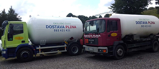 Cisterna za dostavu plina